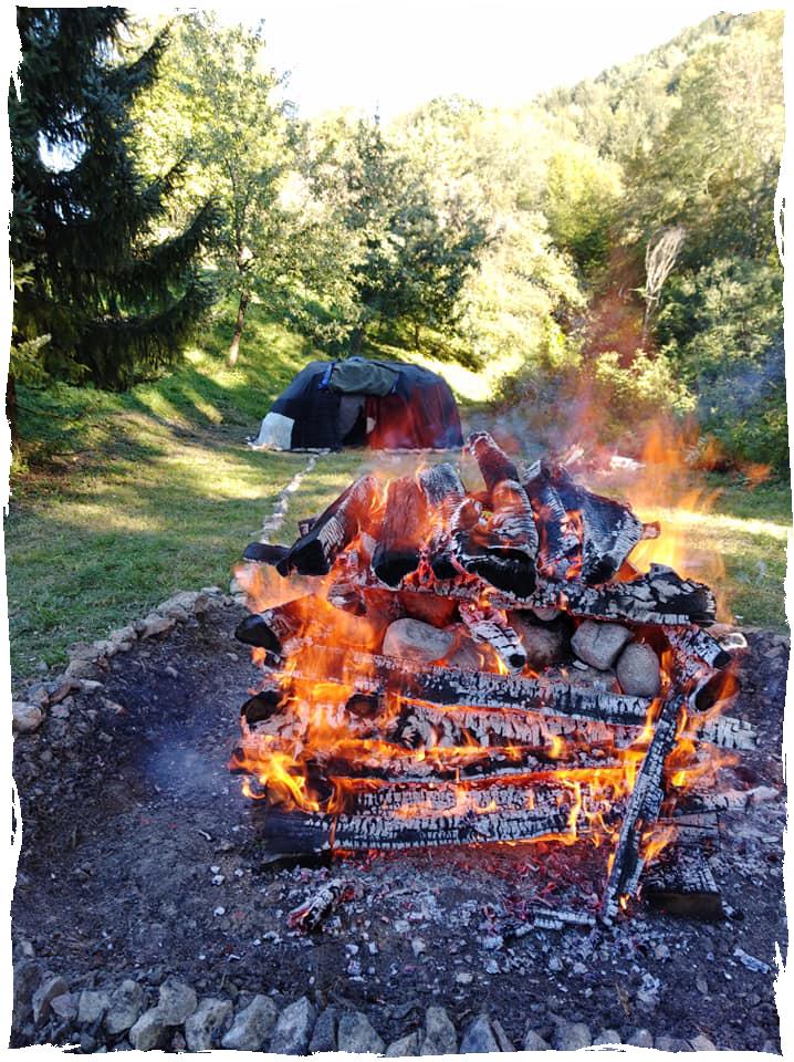 Schamanische Schwitzhütte
