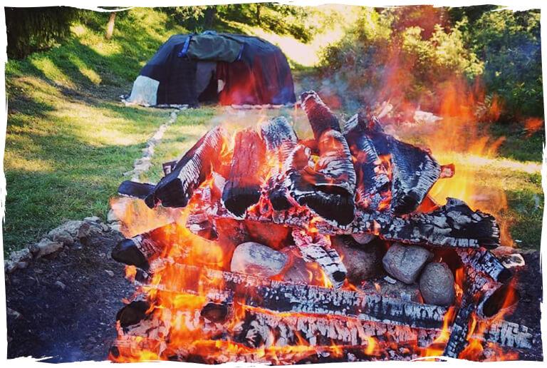 Feuer Schwitzhütte